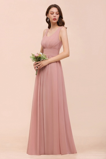Affordable Sleeveless Ruffle Vintage Mauve Bridesmaid Dress_5