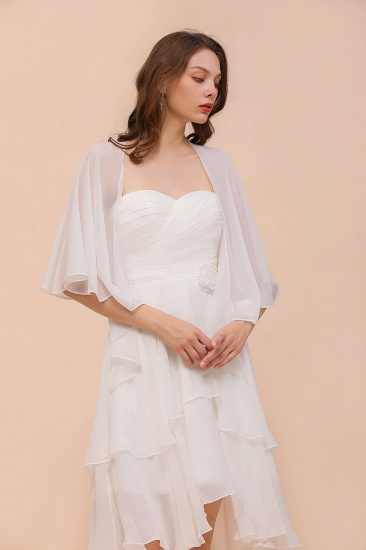 White Chiffon Special Occasions Wraps_7