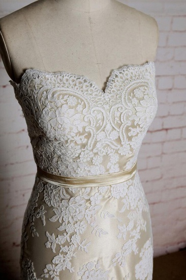 BMbridal Strapless Appliques Tulle A-line Wedding Dress On Sale_5