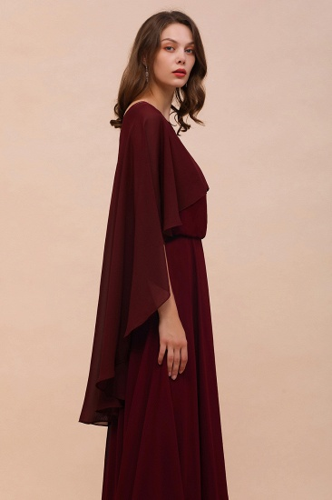 Burgundy Chiffon Special Occasions Wrap_6