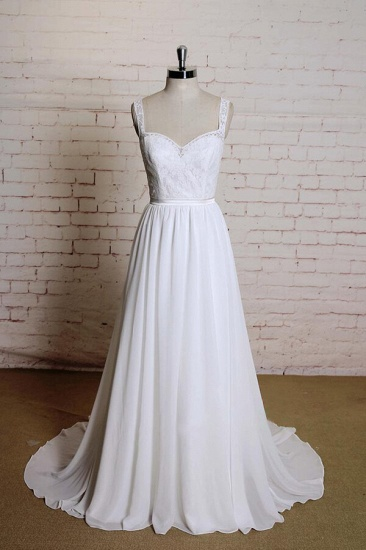 BMbridal Sweetheart Lace Chiffon A-line Wedding Dress On Sale_1