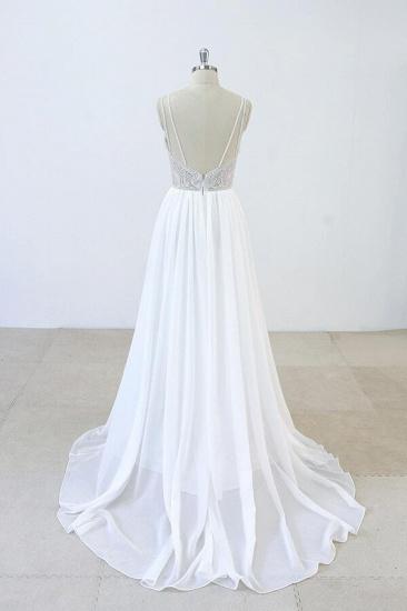 BMbridal Elegant Beading Chiffon A-line Wedding Dress On Sale_3