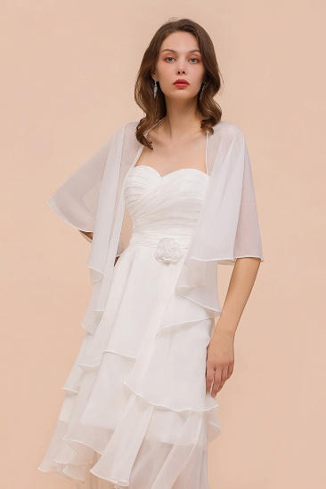 White Chiffon Special Occasions Wraps_9