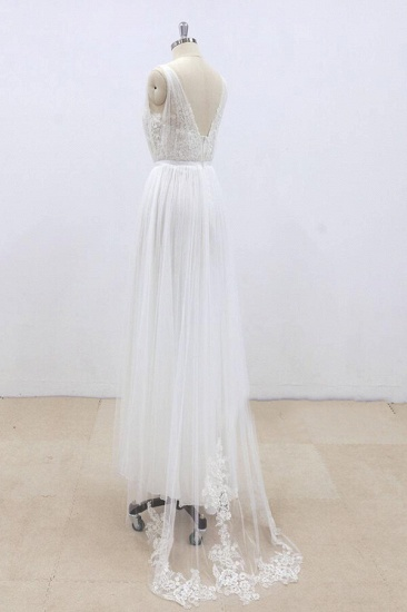 BMbridal Amazing Ruffle Tulle Appliques A-line Wedding Dress On Sale_7