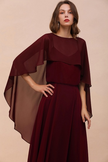 Burgundy Chiffon Special Occasions Wrap