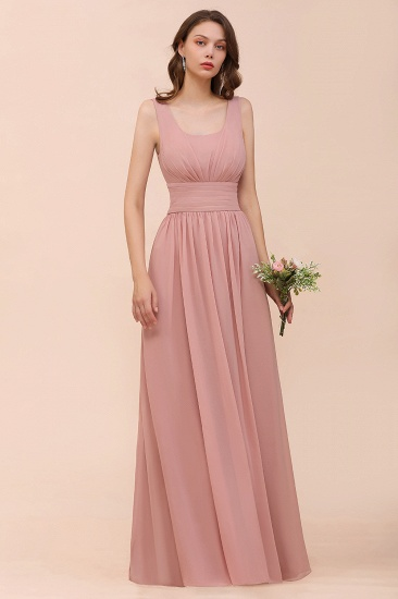 Affordable Sleeveless Ruffle Vintage Mauve Bridesmaid Dress_4