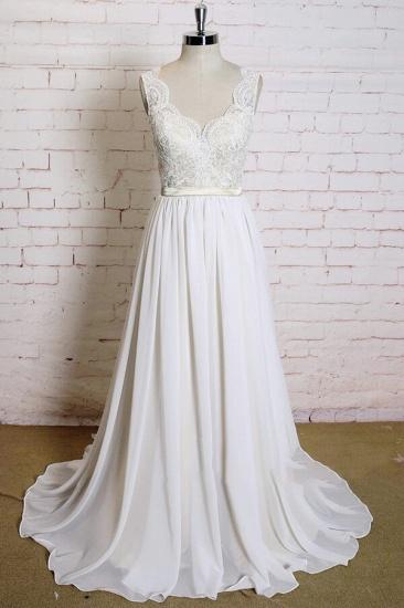 BMbridal Latest V-neck Lace Chiffon A-line Wedding Dress On Sale_1