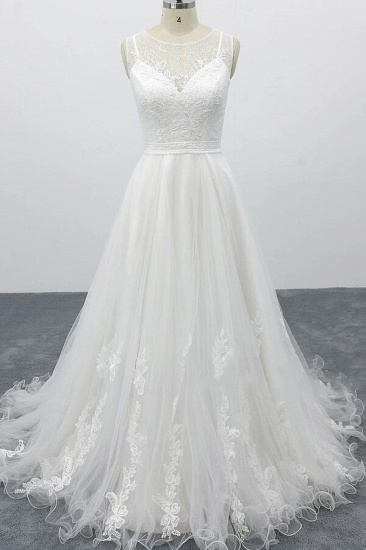 BMbridal Graceful Appliques Tulle A-line Wedding Dress On Sale