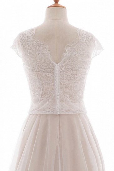 BMbridal Graceful V-neck Lace Tulle A-line Wedding Dress On Sale_7