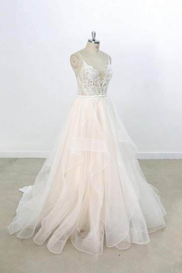 BMbridal Eye-catching Appliques Tulle A-line Wedding Dress On Sale_4