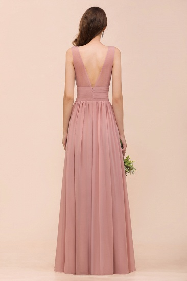 Affordable Sleeveless Ruffle Vintage Mauve Bridesmaid Dress_3
