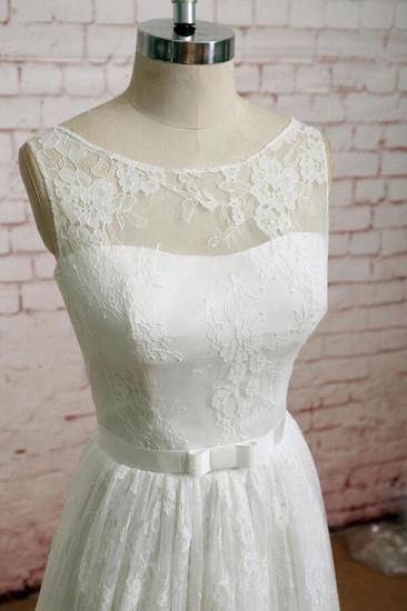 BMbridal Graceful Illusion Lace A-line Wedding Dress On Sale_4