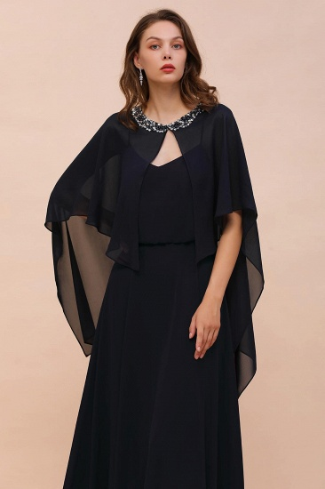 BMbridal Dark Navy Chiffon Special Occasions Wrap_8