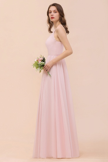 BMbridal Gorgeous Chiffon Halter Ruffle Affordable Long Bridesmaid Dress_58