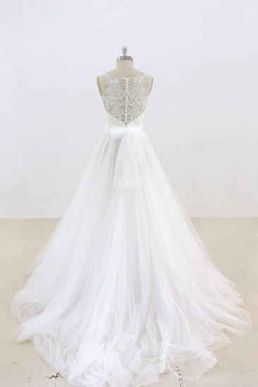 BMbridal Graceful Illusion Lace Tulle A-line Wedding Dress On Sale_3