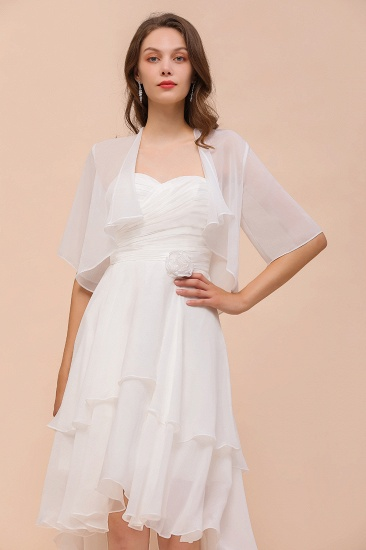 White Chiffon Half Sleeves Special Occasions Wraps