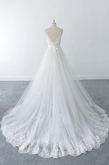 BMbridal Amazing Ruffle Appliques Tulle A-line Wedding Dress On Sale_3