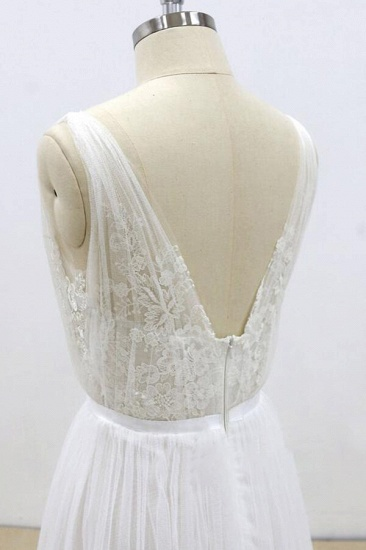 BMbridal Amazing Ruffle Tulle Appliques A-line Wedding Dress On Sale_9