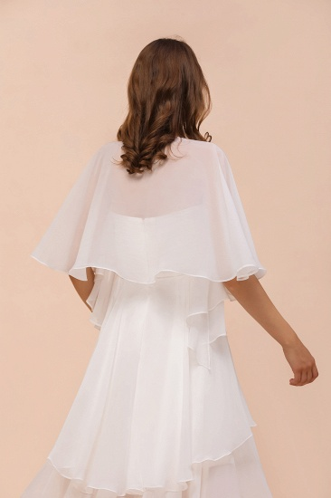 White Chiffon Special Occasions Wraps_8