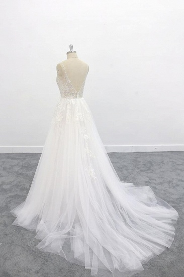BMbridal Graceful Appliques Tulle A-line Wedding Dress On Sale_5