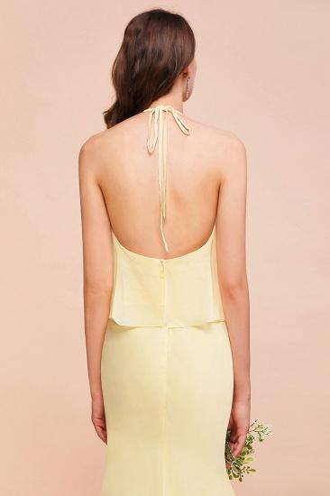 BMbridal Gorgeous Daffodil Mermaid Halter Ruffle Bridesmaid Dress_9