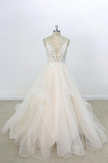 BMbridal Eye-catching Appliques Tulle A-line Wedding Dress On Sale_1
