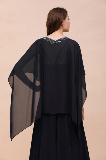 BMbridal Dark Navy Chiffon Special Occasions Wrap_3