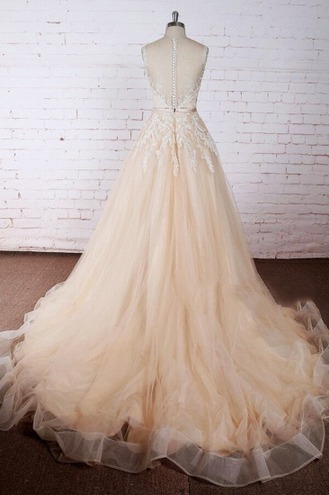 BMbridal Elegant Appliques Tulle A-line Wedding Dress On Sale_3