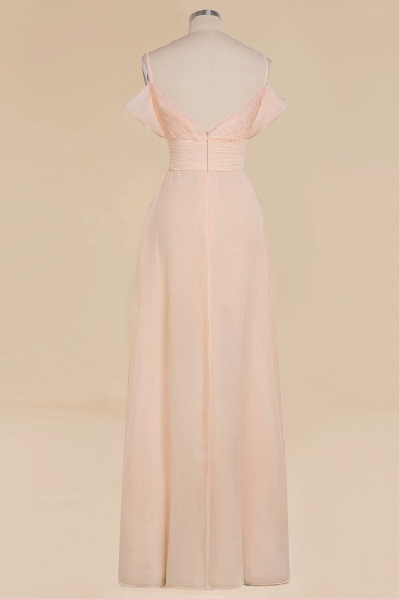 Off-the-Shoulder Sweetheart Ruched Long Bridesmaid Dress Online_11
