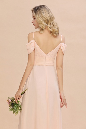 Off-the-Shoulder Sweetheart Ruched Long Bridesmaid Dress Online_7