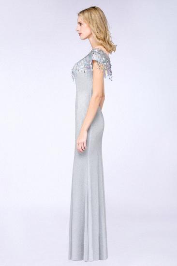 BMbridal Elegant Jewel Short Sleeves Sequins Evening Dress with Tassels_5