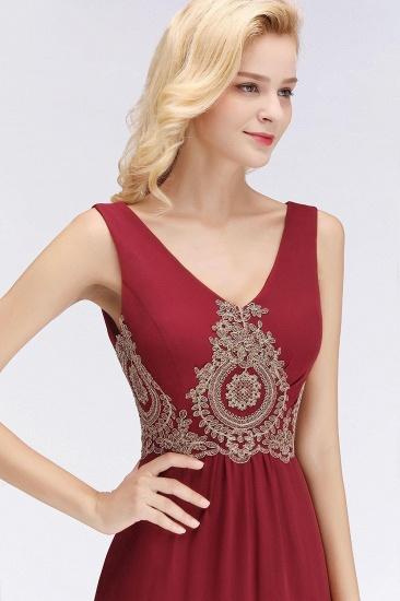 BMbridal A-Line Chiffon Lace Ruffles Evening Dress_6