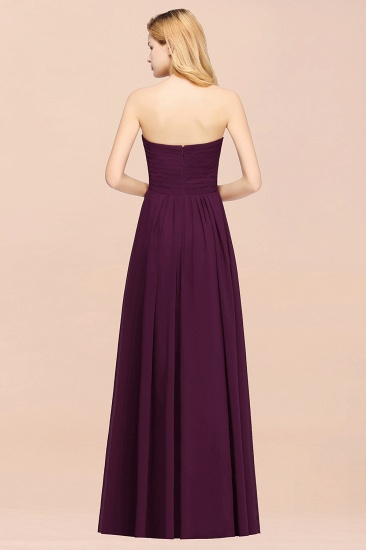Vintage Sweetheart Long Grape Affordable Bridesmaid Dresses Online_52