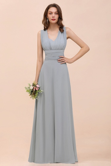 New Arrival Dusty Blue Ruched Long Convertible Bridesmaid Dresses
