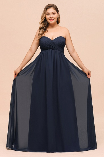 BMbridal Affordable Strapless Sweetheart Long Bridesmaid Dress with Ruffle_4