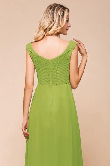 BMbridal Affordable V-Neck Sleeveless Green Chiffon Bridesmaid Dress Online_7