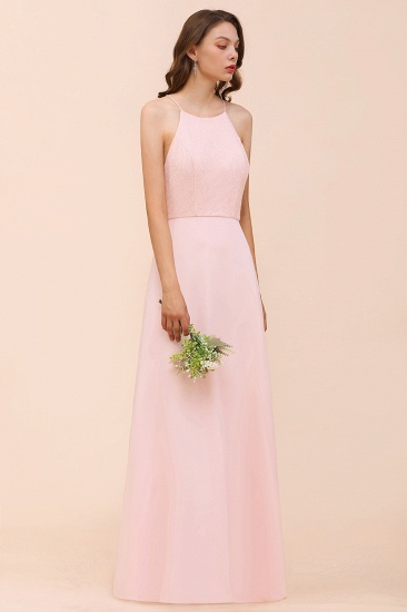BMbridal Elegant Lace Spaghetti Straps Affordable Long Bridesmaid Dress_5