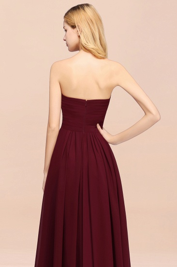 Vintage Sweetheart Long Grape Affordable Bridesmaid Dresses Online_58