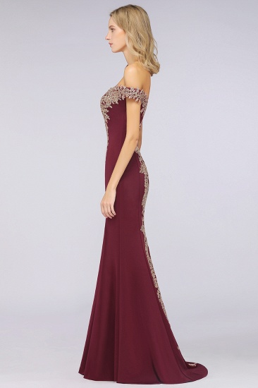 BMbridal Elegant Off-the-Shoulder Mermaid Prom Dress Long With Lace Appliques_34