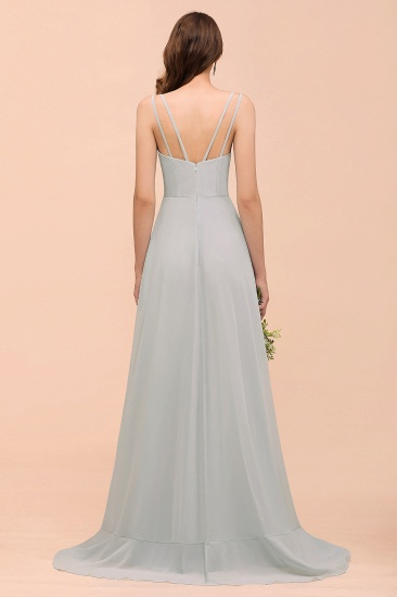 BMbridal Affordable V-Neck Ruffle Mist Chiffon Bridesmaid Dresses Affordable_3