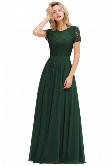BMbridal Chic A-line Chiffon Lace Bridesmaid Dress with Short Sleeves_4