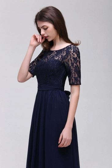 BMbridal Half-Sleeve Lace Long Chiffon Evening Dress_15