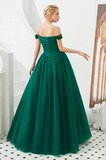 BMbridal Princess Off-the-Shoulder Prom Dress Beadings Sweetheart Ball Gown Evening Gowns_7