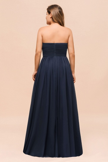 BMbridal Affordable Strapless Sweetheart Long Bridesmaid Dress with Ruffle_3