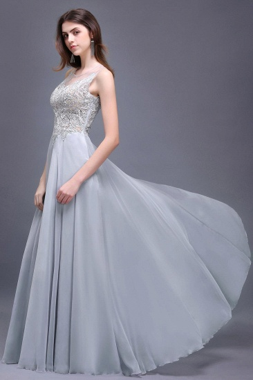 BMbridal Gorgeous Lace Chiffon Long Prom Dress_3
