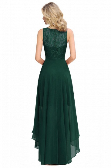 BMbridal A-line Hi-lo Chiffon Lace Bridesmaid Dress_8