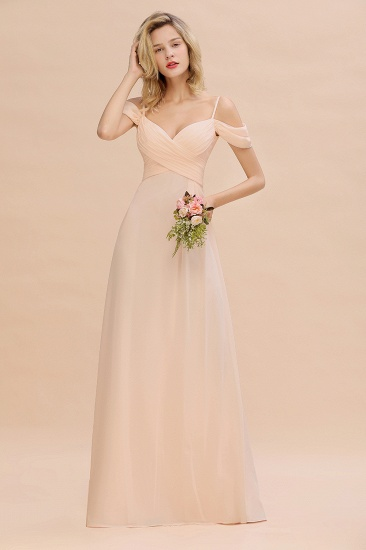 Off-the-Shoulder Sweetheart Ruched Long Bridesmaid Dress Online_2