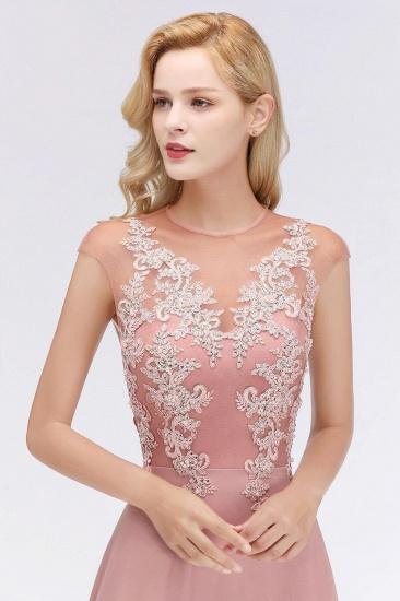 BMbridal A-line Jewel Sleeveless Chiffon Tulle Lace Bridesmaid Dress_7