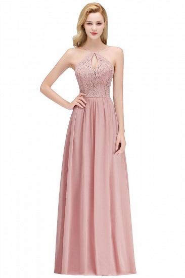 BMbridal Halter Keyhole Lace Long Bridesmaid Dresses On Sale_1
