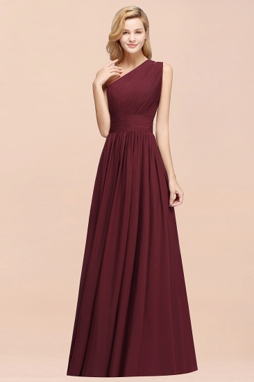 BMbridal Stylish One-shoulder Sleeveless Long Junior Bridesmaid Dresses Affordable_53